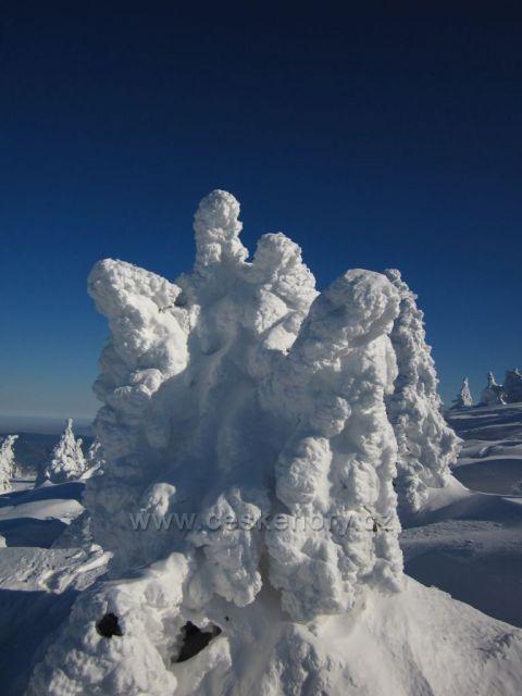 zimní sousoší na Keprníku