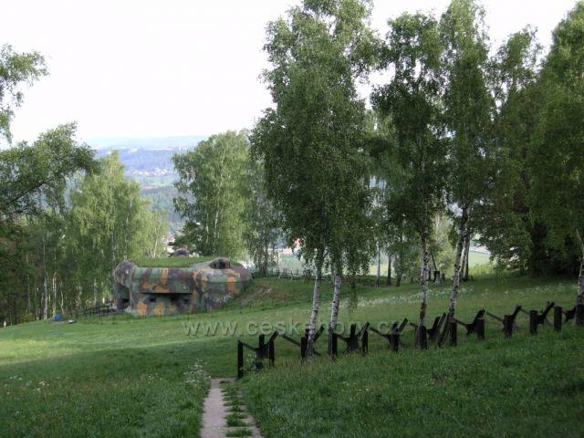 vojenská opevnění -  okolí  Náchoda
