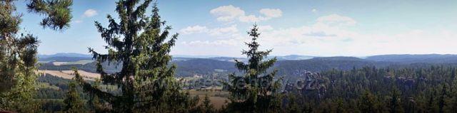 pohled z Adršpachu