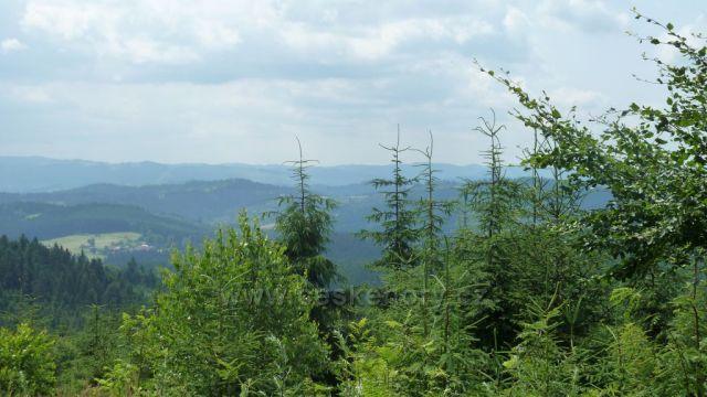 výhled na  slovensko  z  beskyd