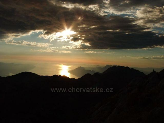 Biokovo - západ slunce