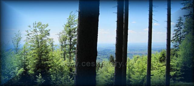Jiráskova cesta - výhled do vnitrozemí