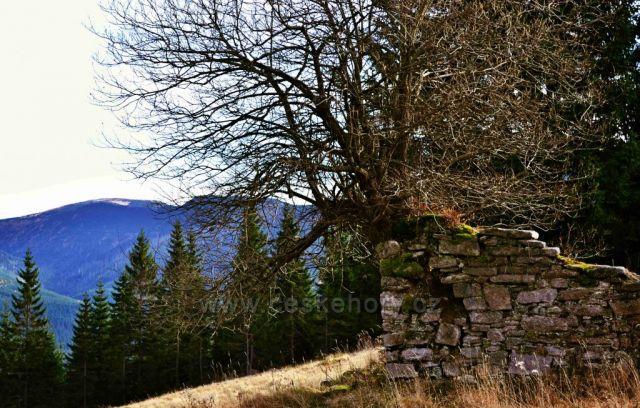 PEVNOST-nedaleko Sedmidolí,v pozadí Kozí hřbety