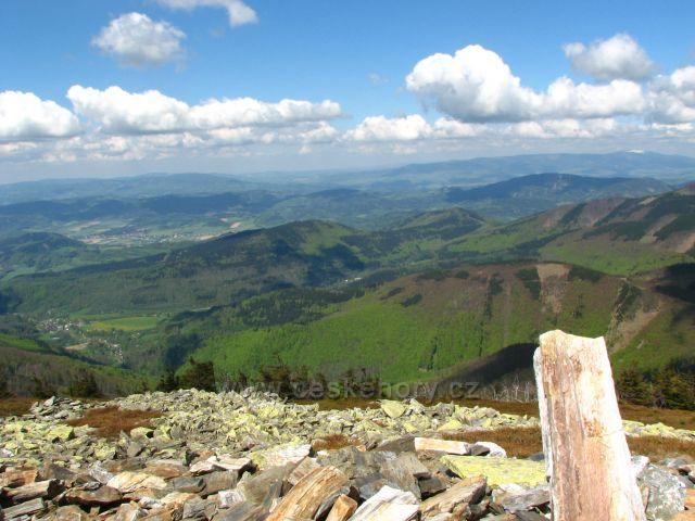 Výhled z Břidličné hory