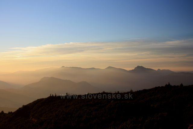 západ slunce nad Malou Fatrou