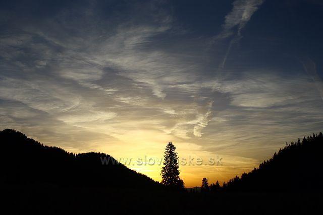 Východ slunce z Polany