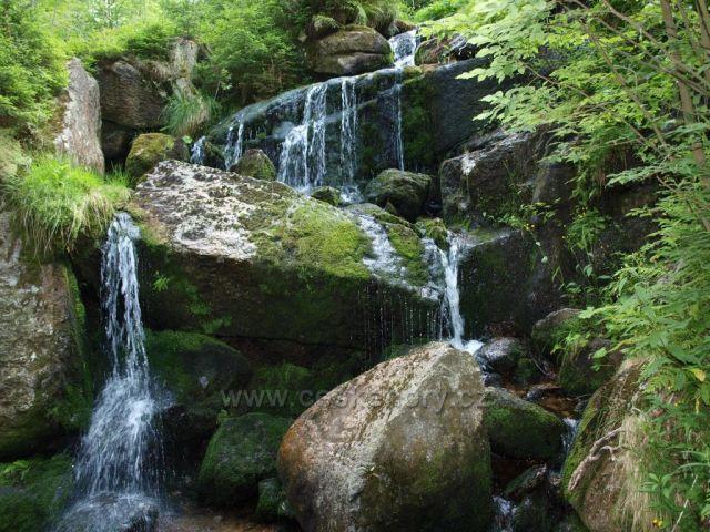 Malý vodopád v Kořenově