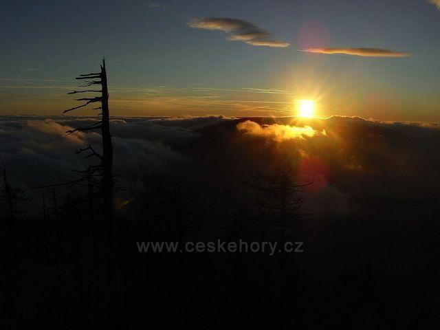 Západ slunce na Lysé hoře.