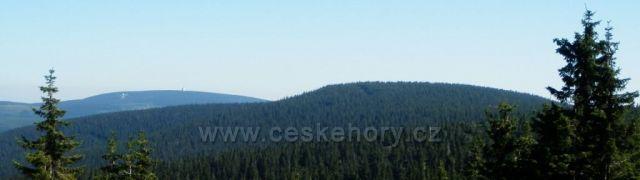 Černá hora - panorama z rozhledny na Hnědém vrchu
