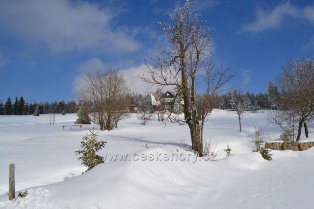 Zima na Pomezních boudách