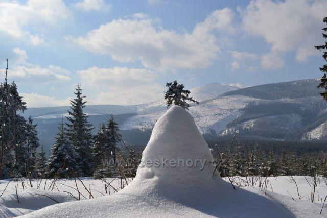 Zima v okolí Horní Malé Úpy
