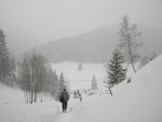 Zima v Peci pod Sněžkou