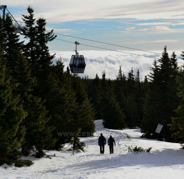 Nová lanovka na Sněžku stanice Růžová Hora