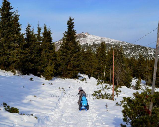 Cesta na Sněžku z Růžové hory
