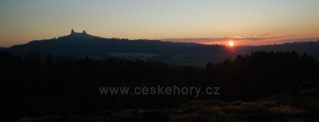 Západ slunce z Boreckých skalách