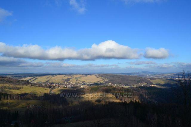 Výhled z hradu Tolštejn