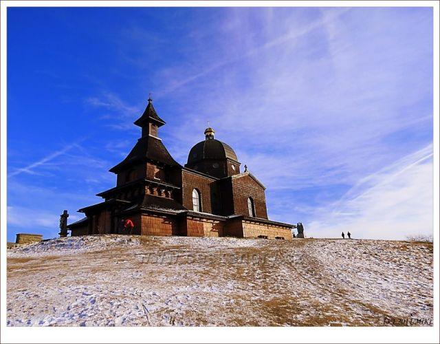 Kaple na Radhošti od sjezdovky