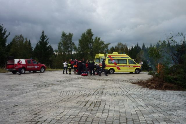 Cvičení IZS na tankovce u Prášil