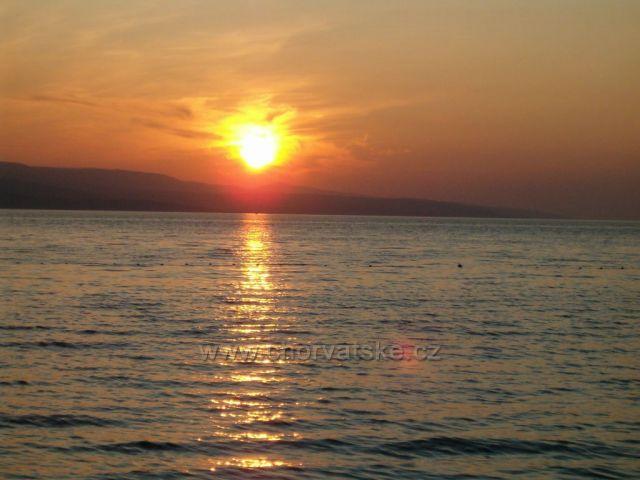 Západ slunce Baška voda