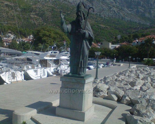 Baško Voda-socha Svatého Mikuláše