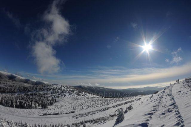 Zimní dovolená v nádherných horách Jeseníky.