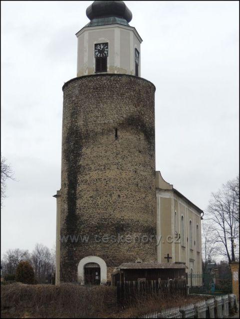 Kostel z hradu v Žulové.