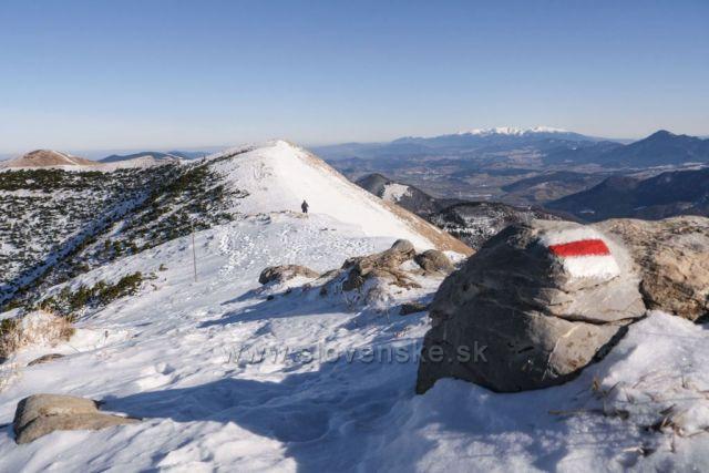 S výhľadom na Tatry, hrebeň Malej Fatry