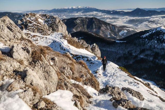 Pár metrov od vrcholu, Veľký Rozsutec, Malá Fatra
