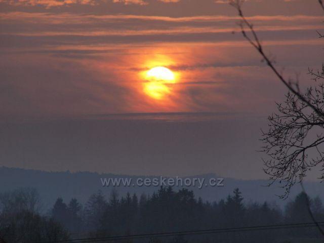 Západ slunce nad Železnými horami.