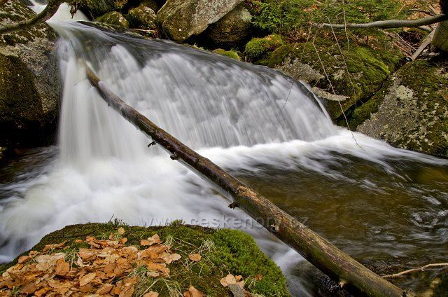 Jelení potok - vodopád.