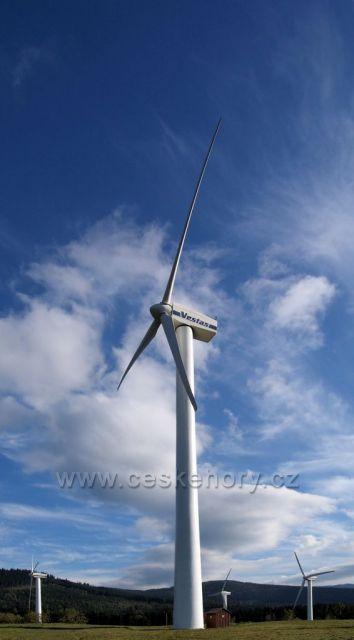 Rychlebské hory - větrné elektrárny Ostružná