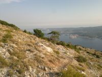 Korčula z hory Sveti Ilja na Pelješaci