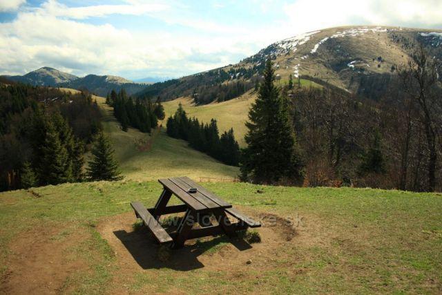 výhled od chaty Borišov
