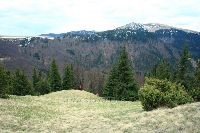pod Porišovem výhled na Kýšky a Suchý vrch