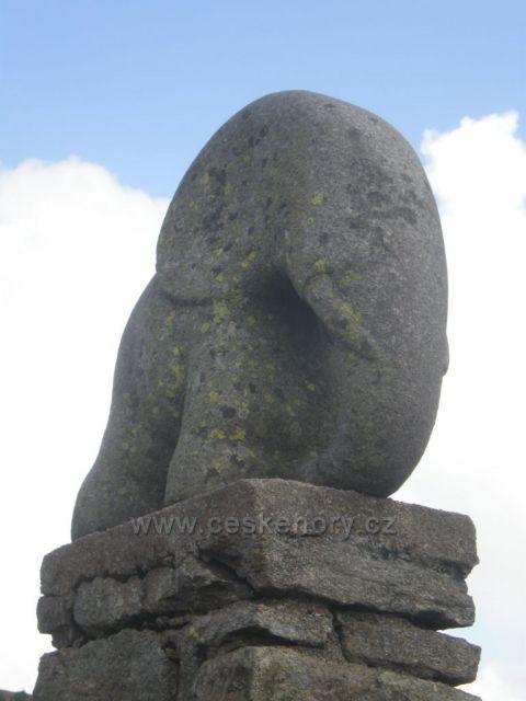 socha slůněte na Králickém Sněžníku
