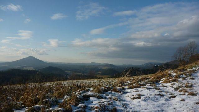 Pohled z Rynartic na Růžovský vrch