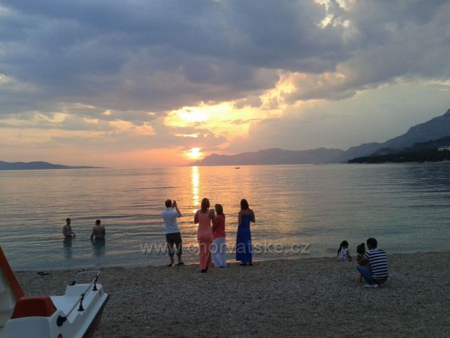 západ slunce v Makarské