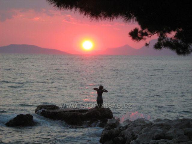 západ slunce v Podgoře