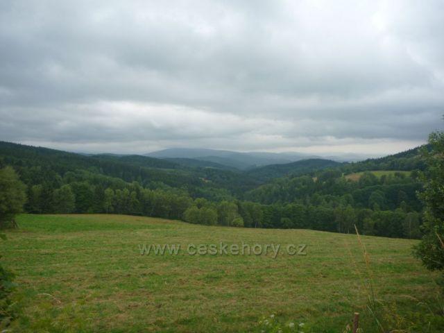 Výhled cestou Borová Lada-Železná Ruda