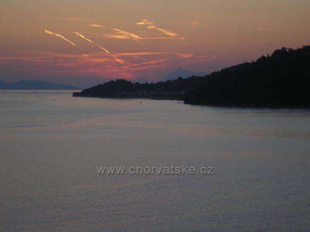 západ slunce nad Podgorou z Drašnic