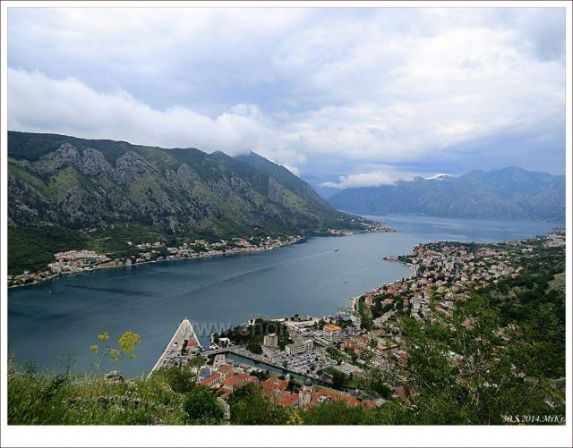 Kotorský záliv a město Kotor