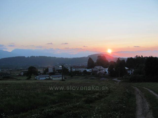 východ slunce nad Tatrou z Lip. Jána