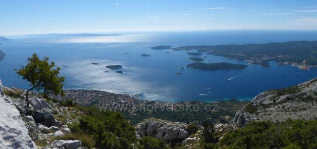 pohled z nejvyšší hory poloostrova Pelješac sv. Iliji