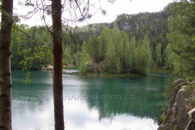 výhled na Adršpašské jezero