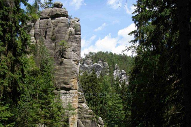 Adršpach - krásný výhled do skal
