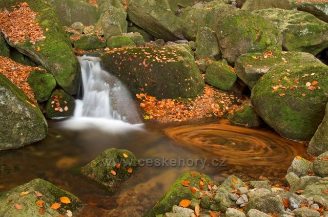 Jeden z vodopádů na Velkém(Černém)Štolpich.