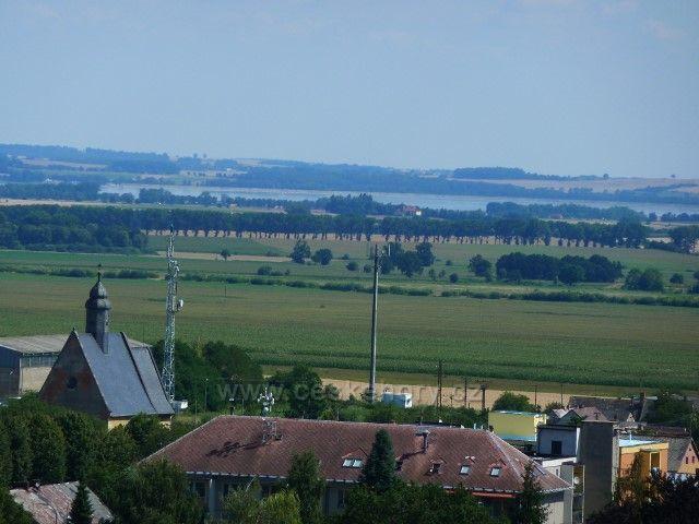 Javorník - pohled z Eichendorffovy vyhlídky na Otmuchowské jezero