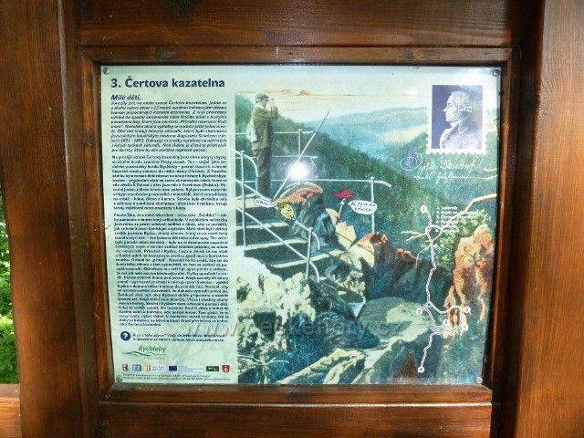 Račí údolí - tabule NS nad horní Čertovo Kazatelnou