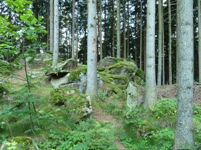 Venušiny misky - kamenitý charakter úbočí Smolného