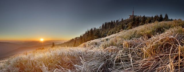 První mrazíky na bývalé velké sjezdovce na Lysé hoře.